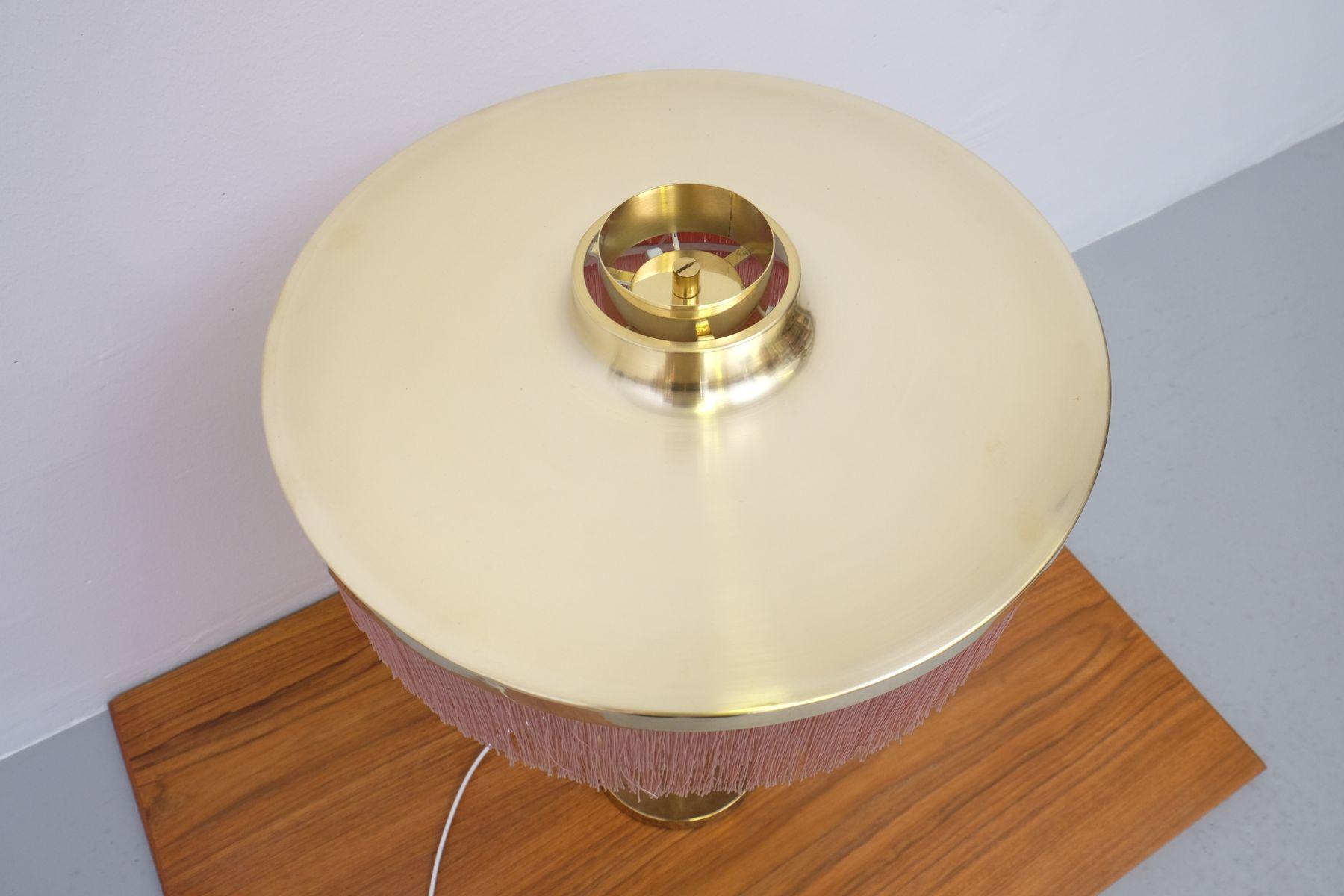 Lampe de bureau b 138 en laiton rose par hans agne - Lampe de bureau rose ...