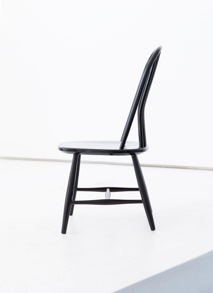 esszimmerst hle aus schwarzem holz von bengt akerblom g ekl f f r akerblom 1950er 6er set. Black Bedroom Furniture Sets. Home Design Ideas