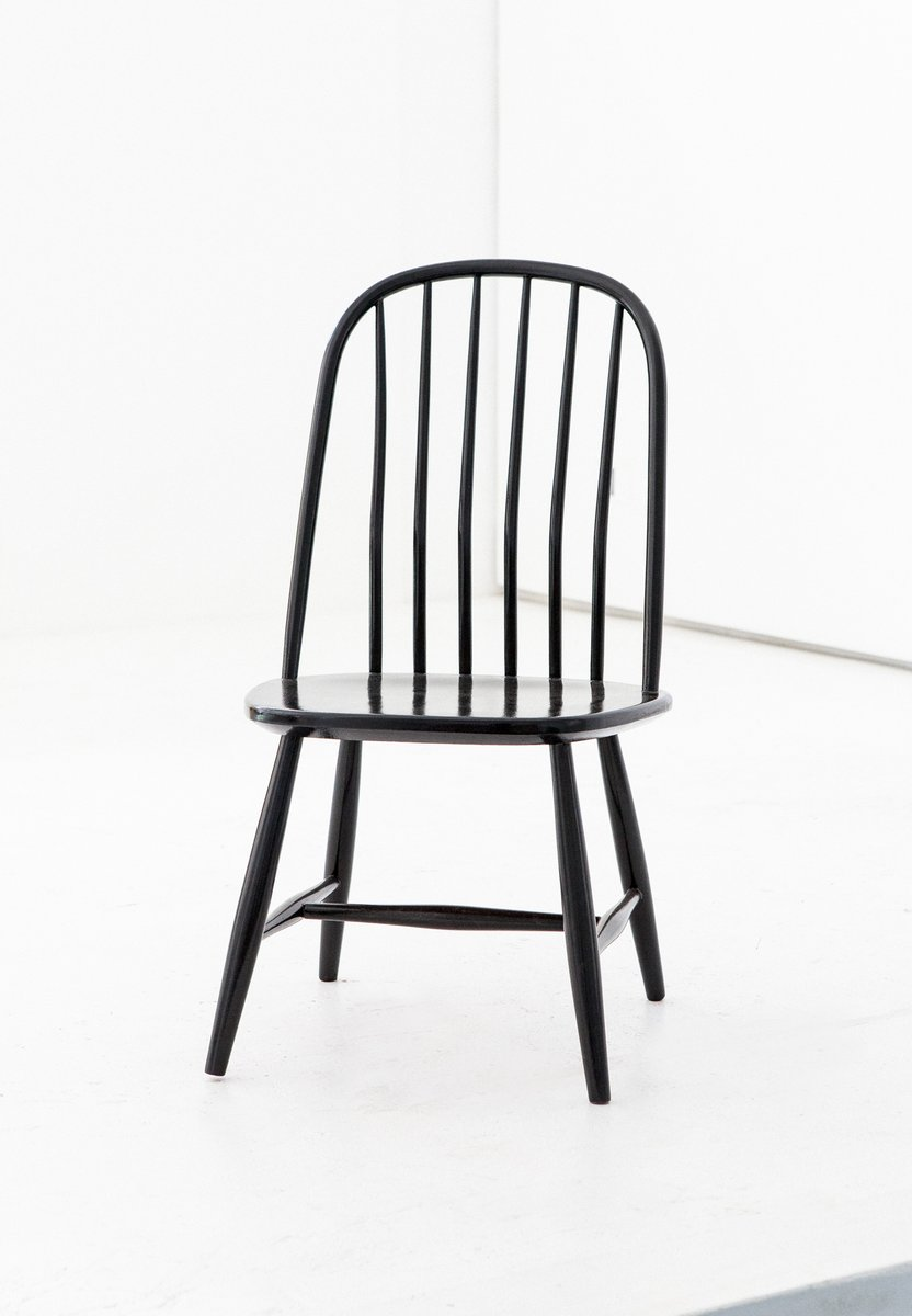 Black Wooden Dining Chairs By Bengt Akerblom G Eklöf For Akerblom