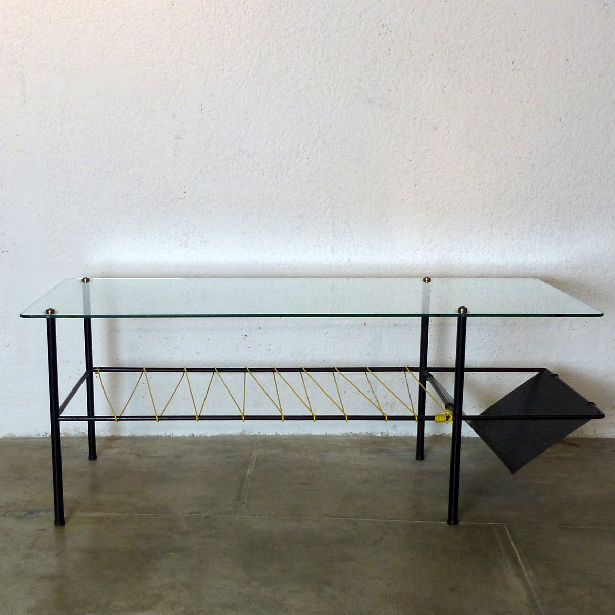 Vintage French Coffee Table By Guermonprez, 1950s For Sale