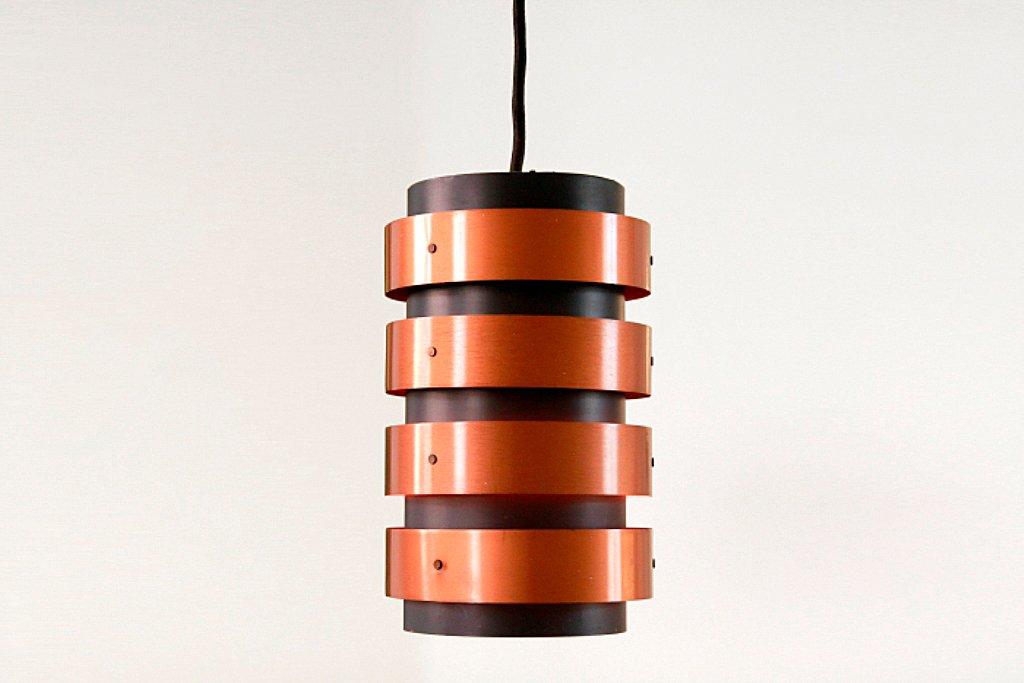 d nische h ngelampe aus schwarz lackiertem metall kupfer 1960er bei pamono kaufen. Black Bedroom Furniture Sets. Home Design Ideas