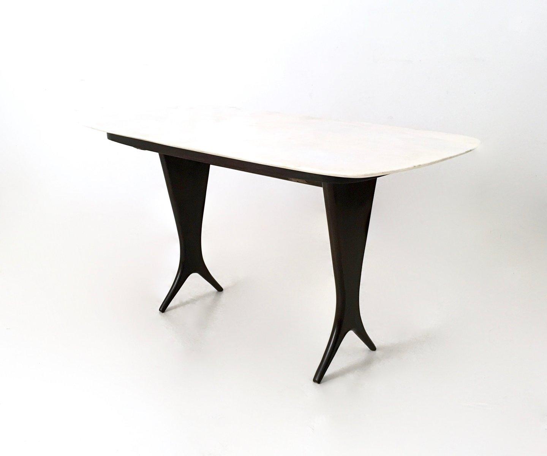 vintage couchtisch aus ebonisiertem nussholz mit carrara marmor tischplatte von guglielmo ulrich. Black Bedroom Furniture Sets. Home Design Ideas