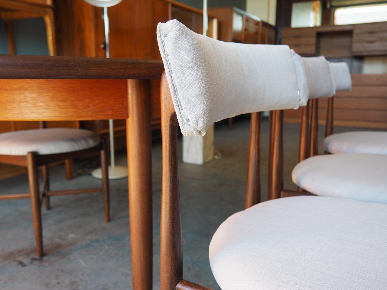 vintage esstisch 4 st hle aus fresco serie von g plan bei pamono kaufen. Black Bedroom Furniture Sets. Home Design Ideas