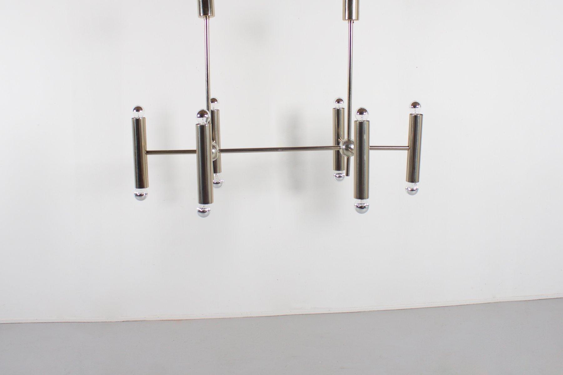 Geometrischer Metall Kronleuchter, 1970er