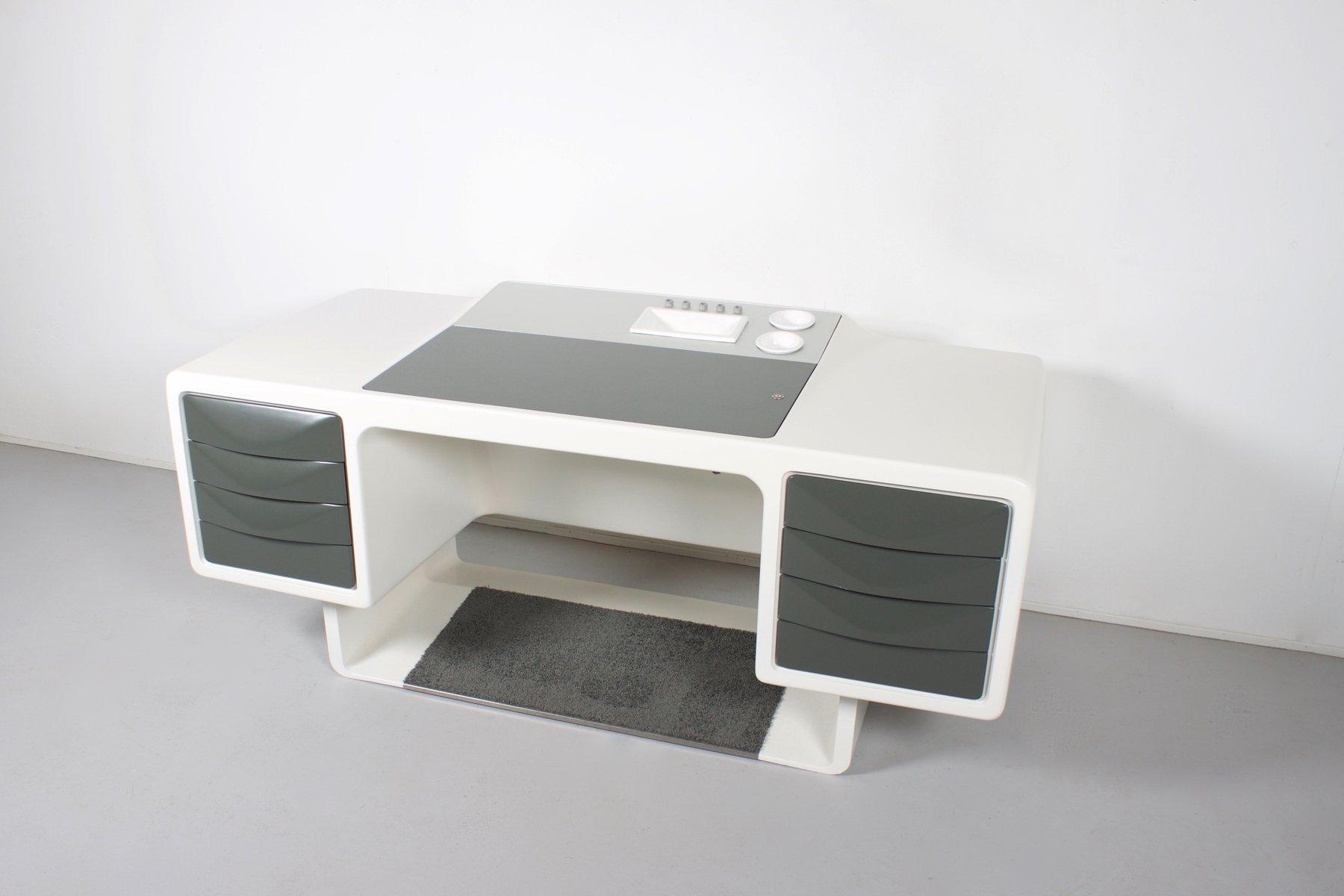 Glasfaser Chef Schreibtisch von Ernest Igl für ...