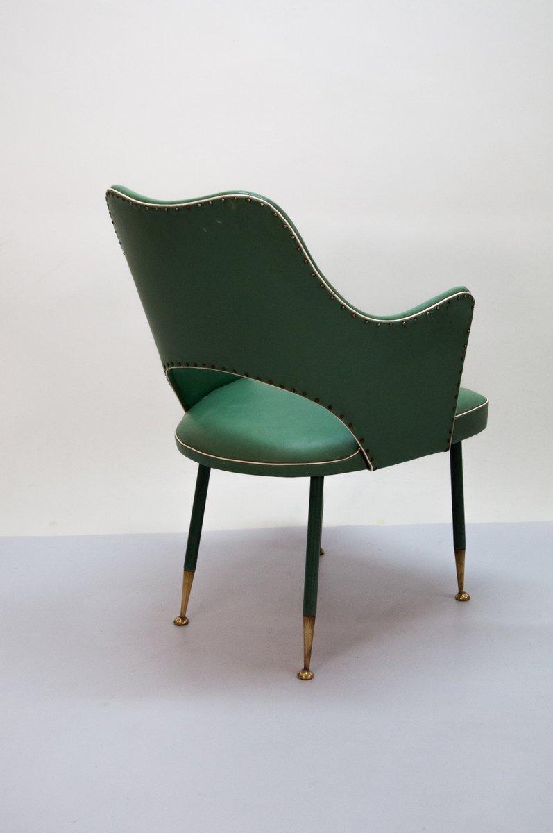 gr ner sessel 1950er bei pamono kaufen. Black Bedroom Furniture Sets. Home Design Ideas