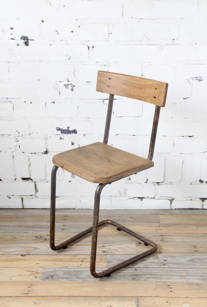 Chaise Industrielle Vintage 1920s