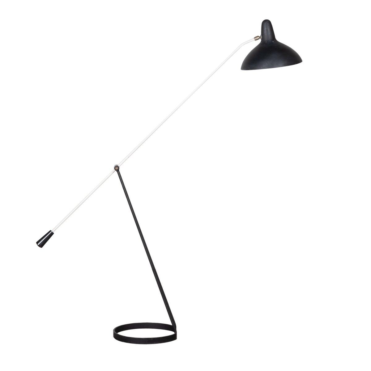 Mid-Century Stehlampe in Schwarz & Weiß von Floris Fiedeldij für Artim...