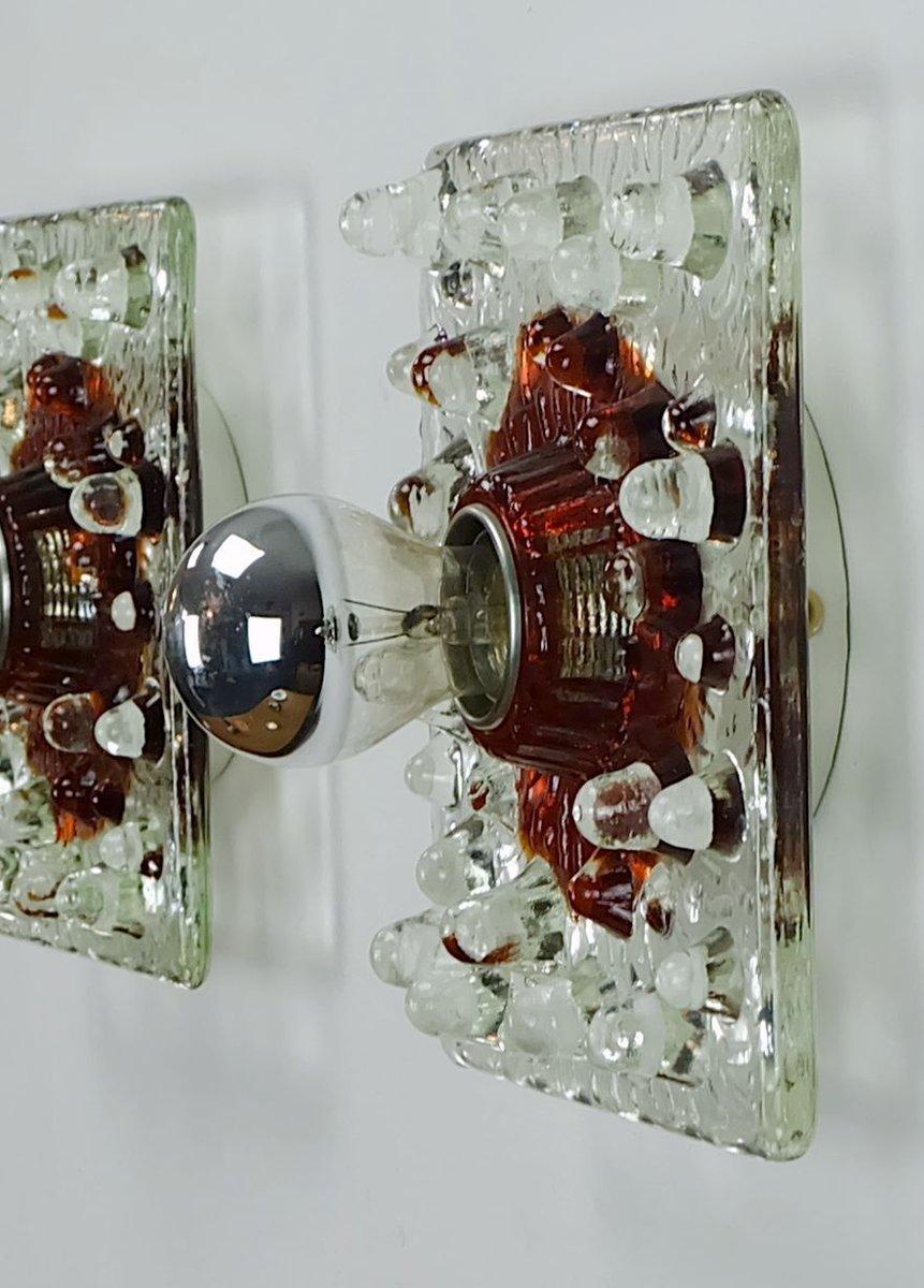 applique murale vintage en verre de s lken leuchten en vente sur pamono. Black Bedroom Furniture Sets. Home Design Ideas