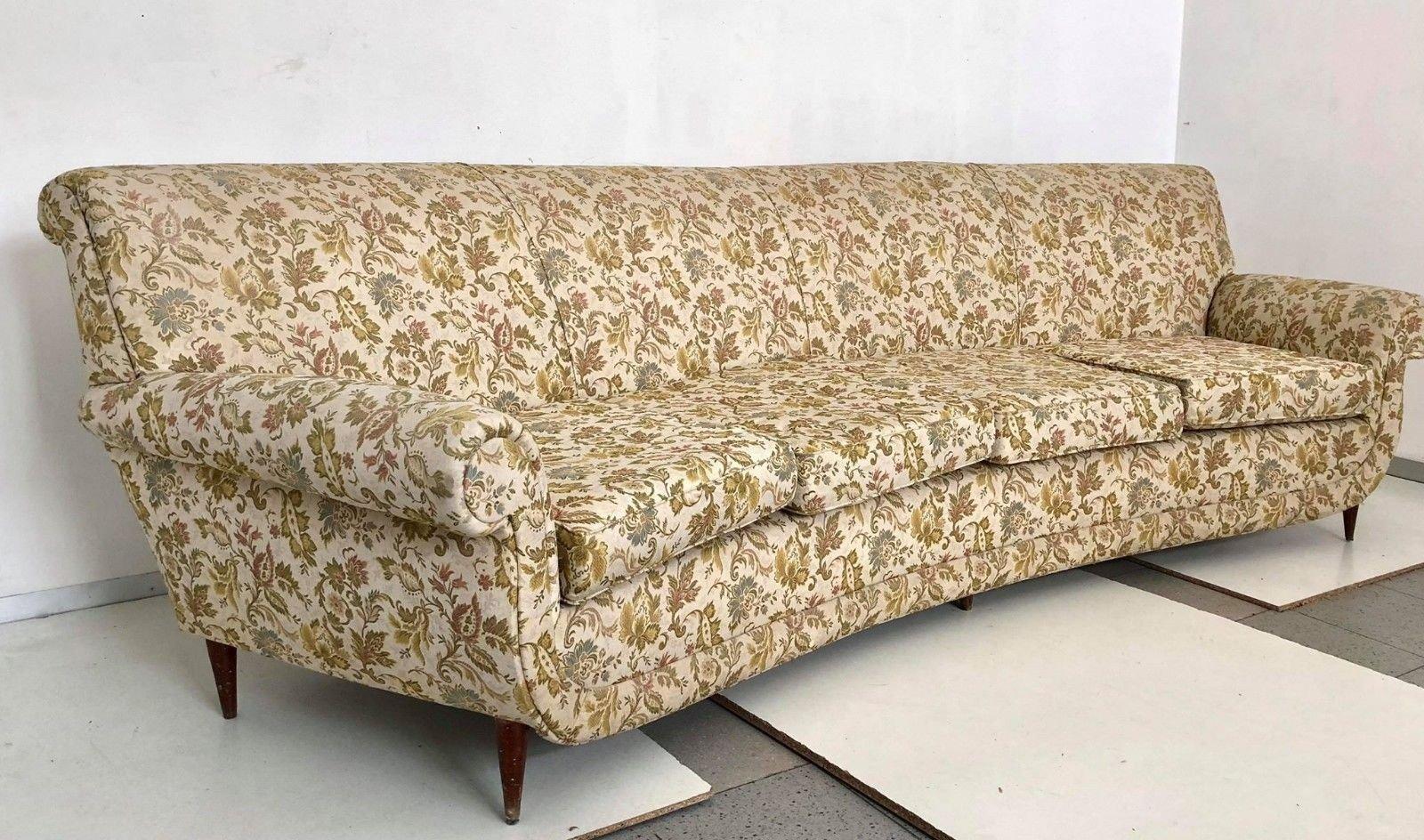Geschwungenes 4 sitzer sofa 1950er bei pamono kaufen for Sofa 4 sitzer
