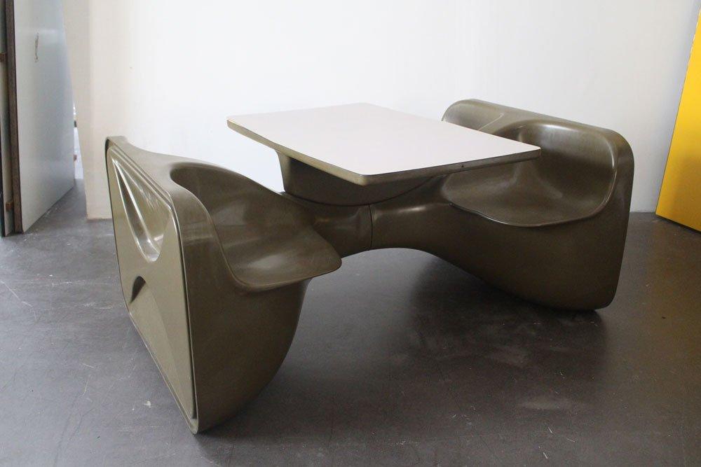 Unibloc IV Esszimmer Set von Roger Landault für Steiner, 1970er