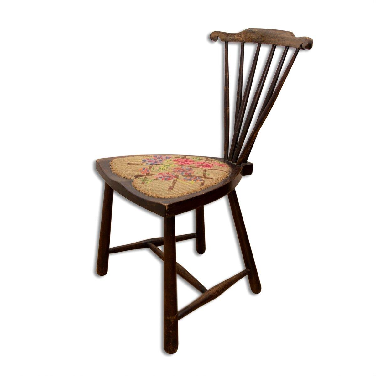 windsor stuhl mit f cher r ckenlehne von adolf loos 1920er bei pamono kaufen. Black Bedroom Furniture Sets. Home Design Ideas