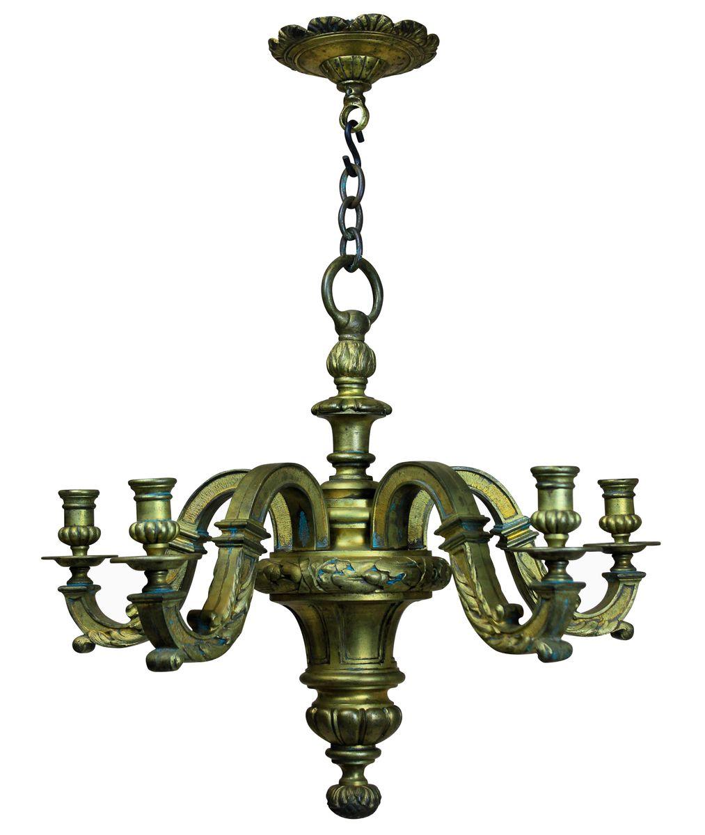 Englischer vergoldeter Bronze Kronleuchter