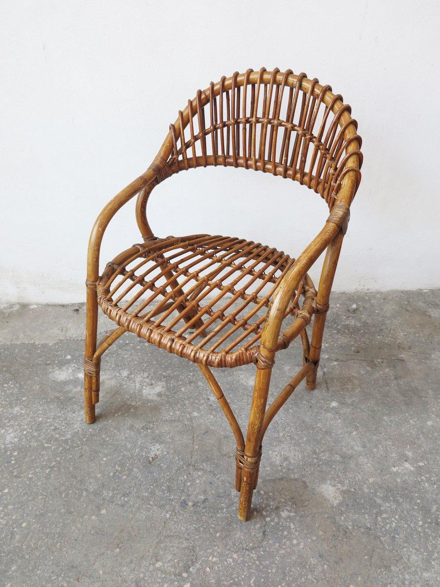 mid-century stuhl aus bambus bei pamono kaufen