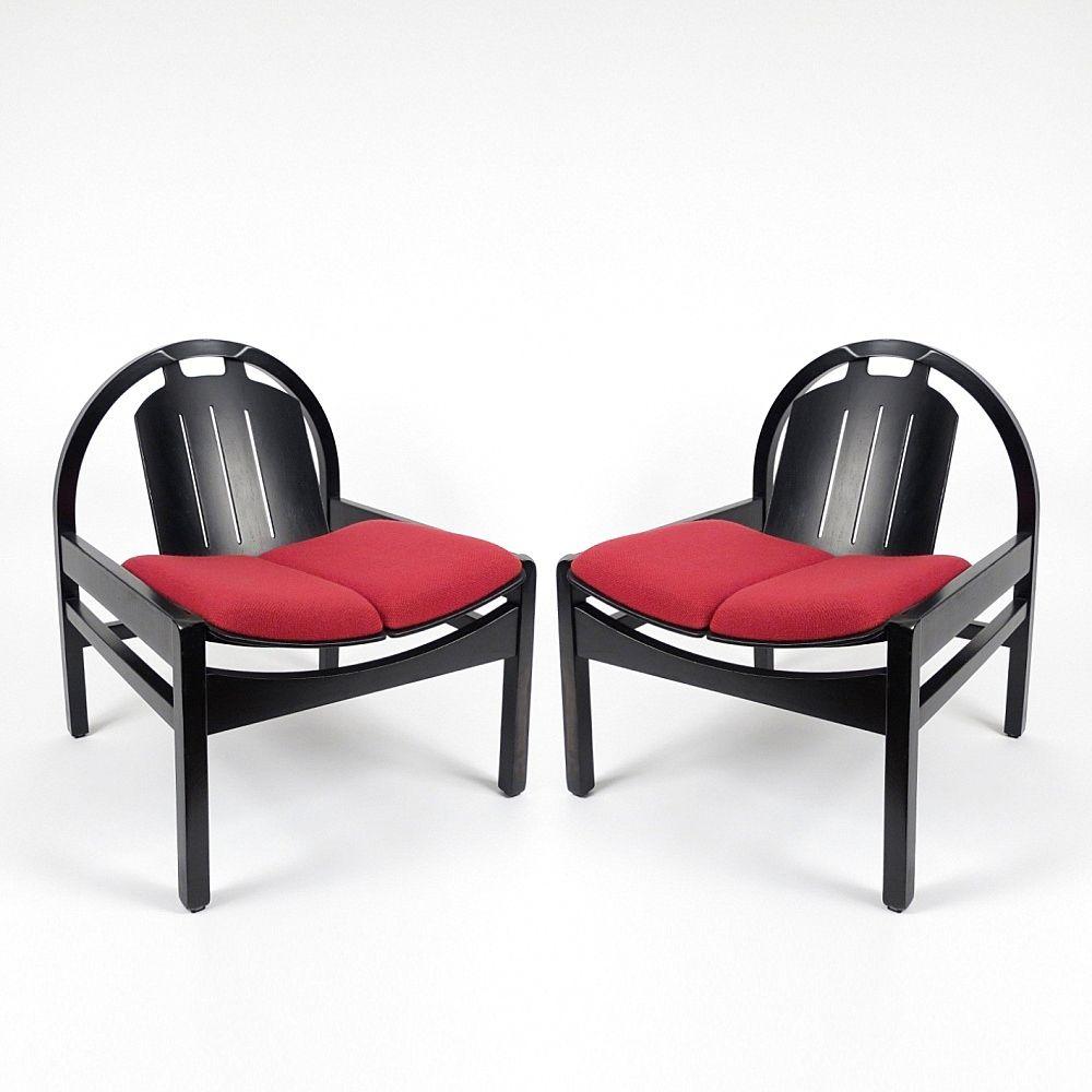 Französische Sessel von Baumann, 1980er, 2er Set