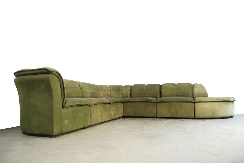 modulares sofa aus nubuck leder von laauser 1970er bei pamono kaufen. Black Bedroom Furniture Sets. Home Design Ideas