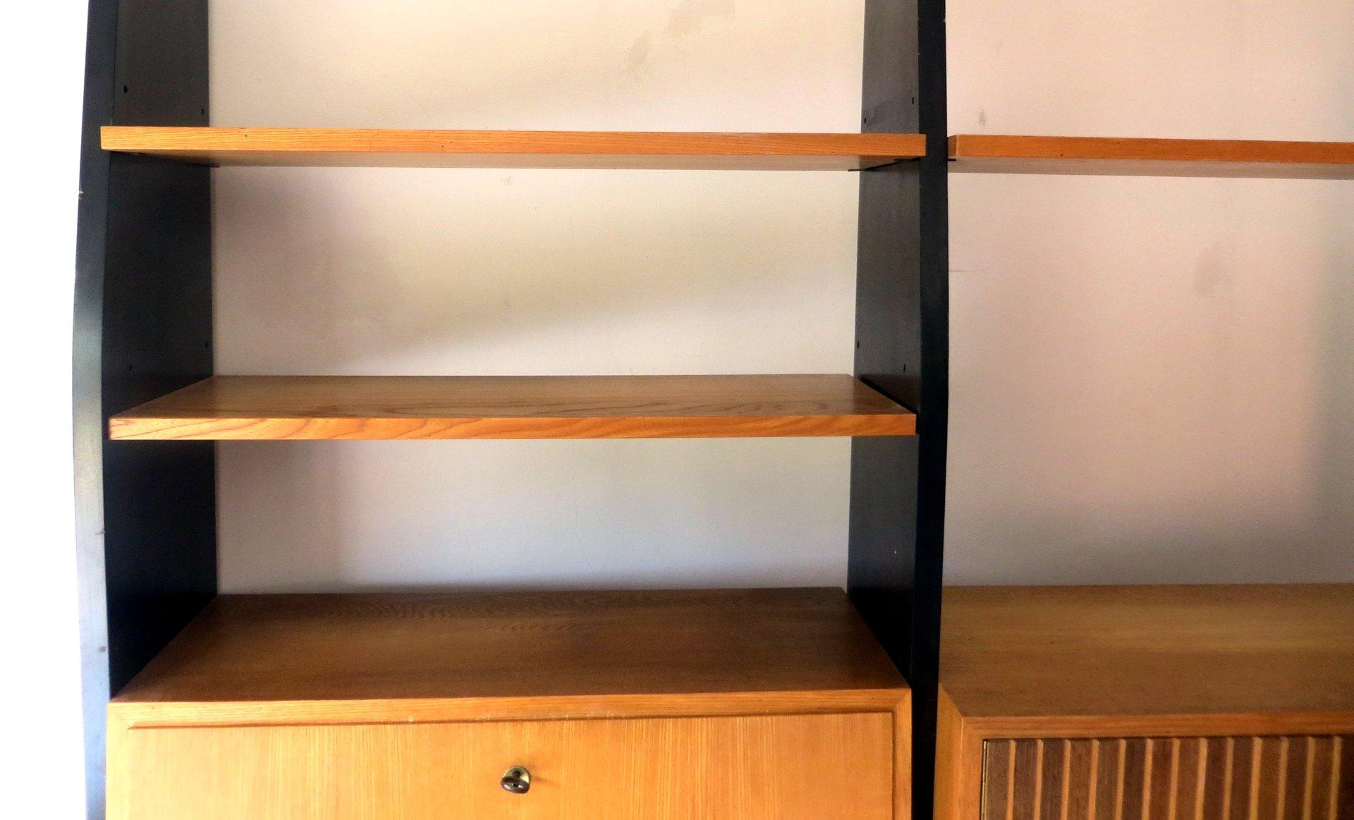 modulares idee m bel program wandregal mit sekret r von erich stratmann f r oldenburger. Black Bedroom Furniture Sets. Home Design Ideas