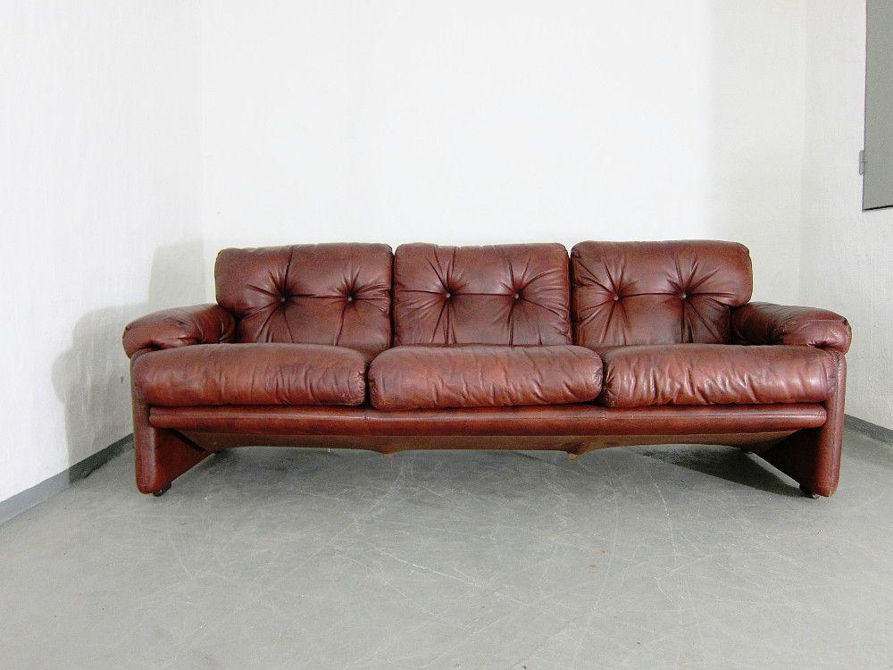 vintage 3 sitzer coronado sofa von tobia afra scarpa f r b b bei pamono kaufen. Black Bedroom Furniture Sets. Home Design Ideas
