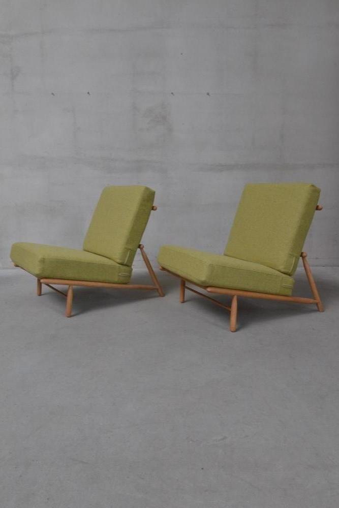 Nordeuropäische Vintage Sessel aus Kiefernholz, 2er Set