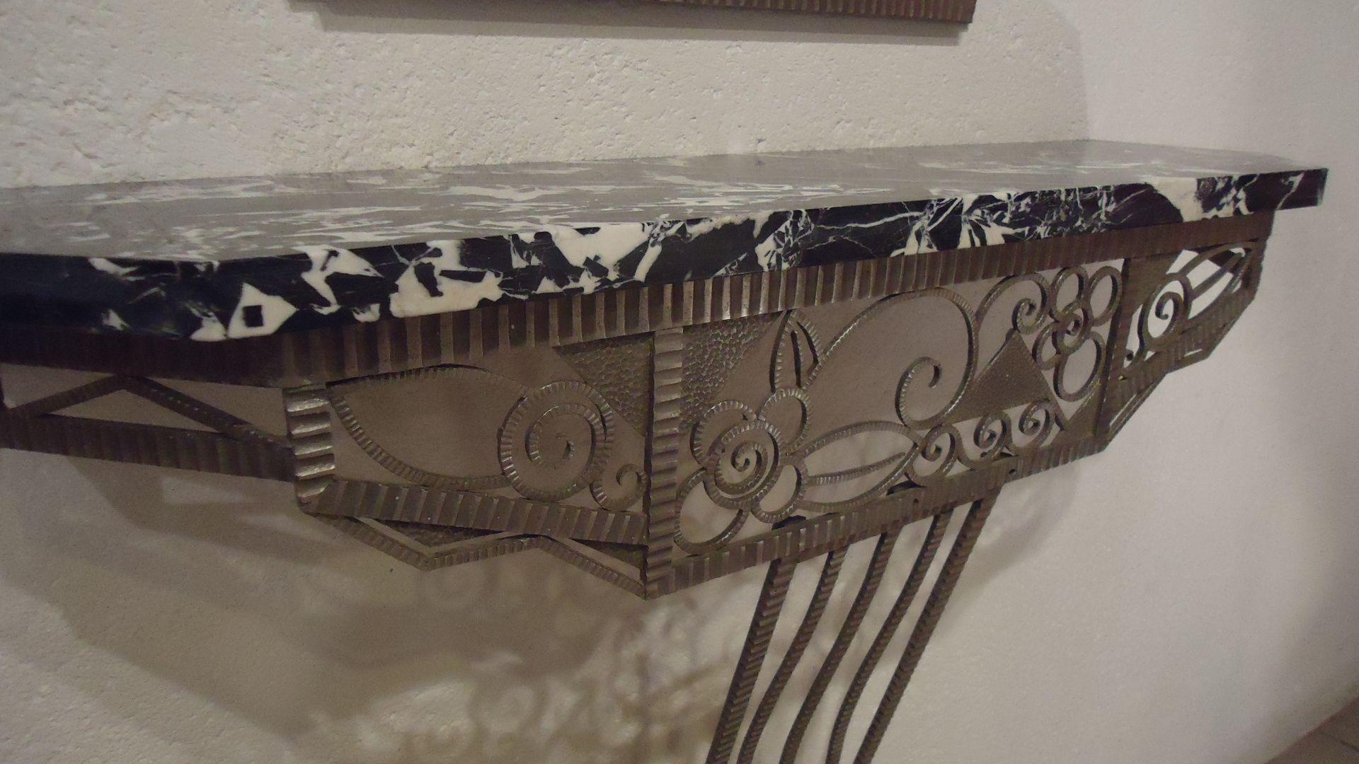 table console miroir art deco 1920s en vente sur pamono. Black Bedroom Furniture Sets. Home Design Ideas