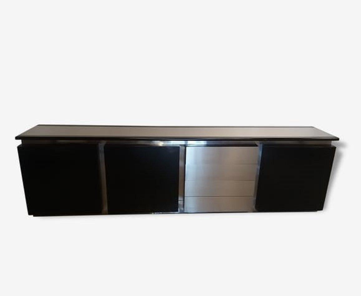 Stahl & Eiche Sideboard von Ludovico Acerbis, 1970er