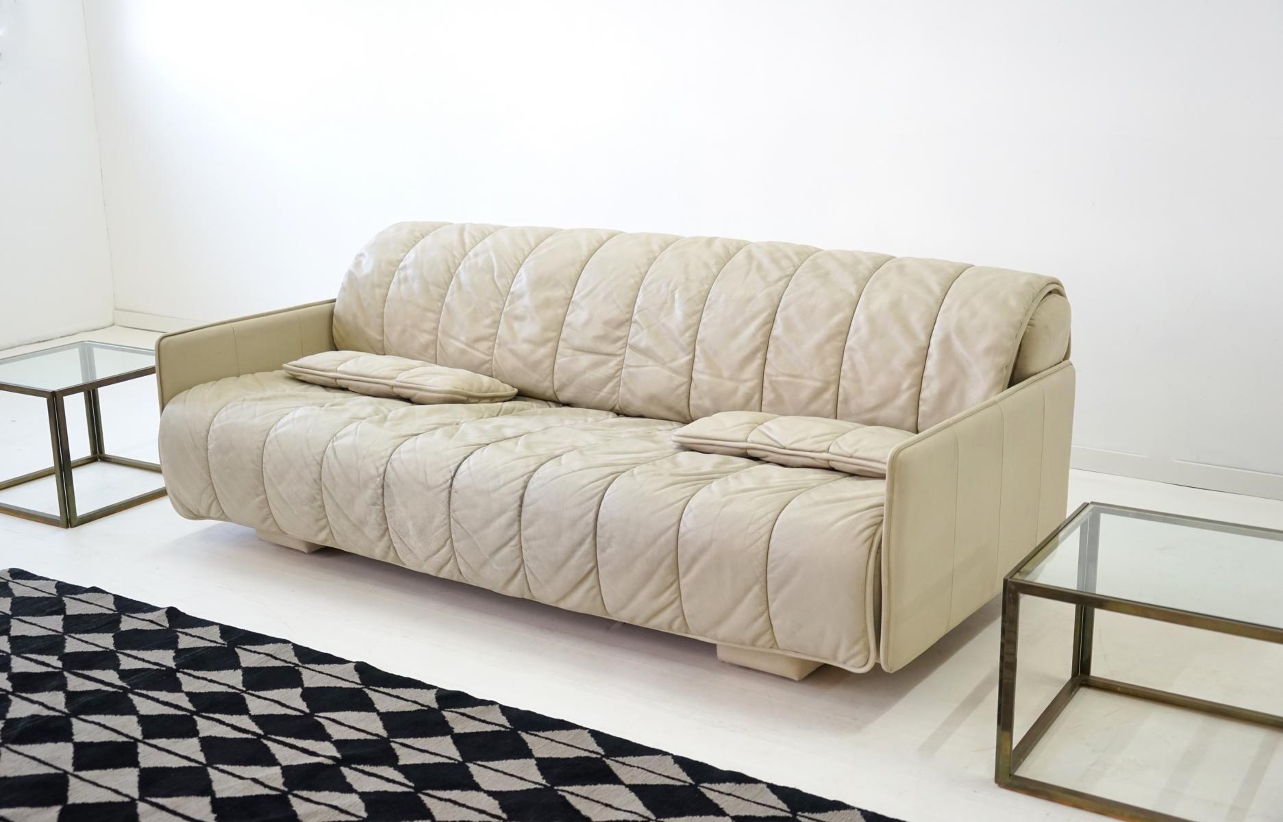 vintage 3 sitzer leder sofa von de sede bei pamono kaufen. Black Bedroom Furniture Sets. Home Design Ideas
