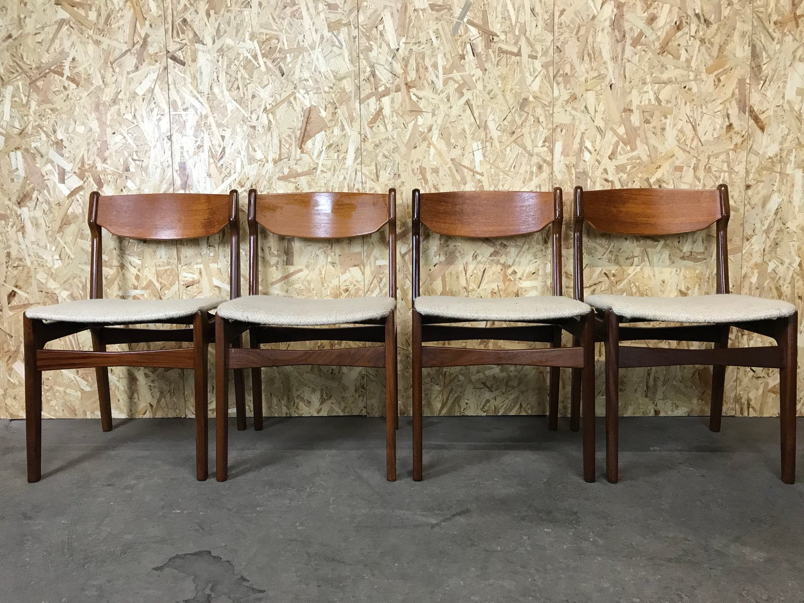 Vintage Danish Dining Chairs Set Of 4