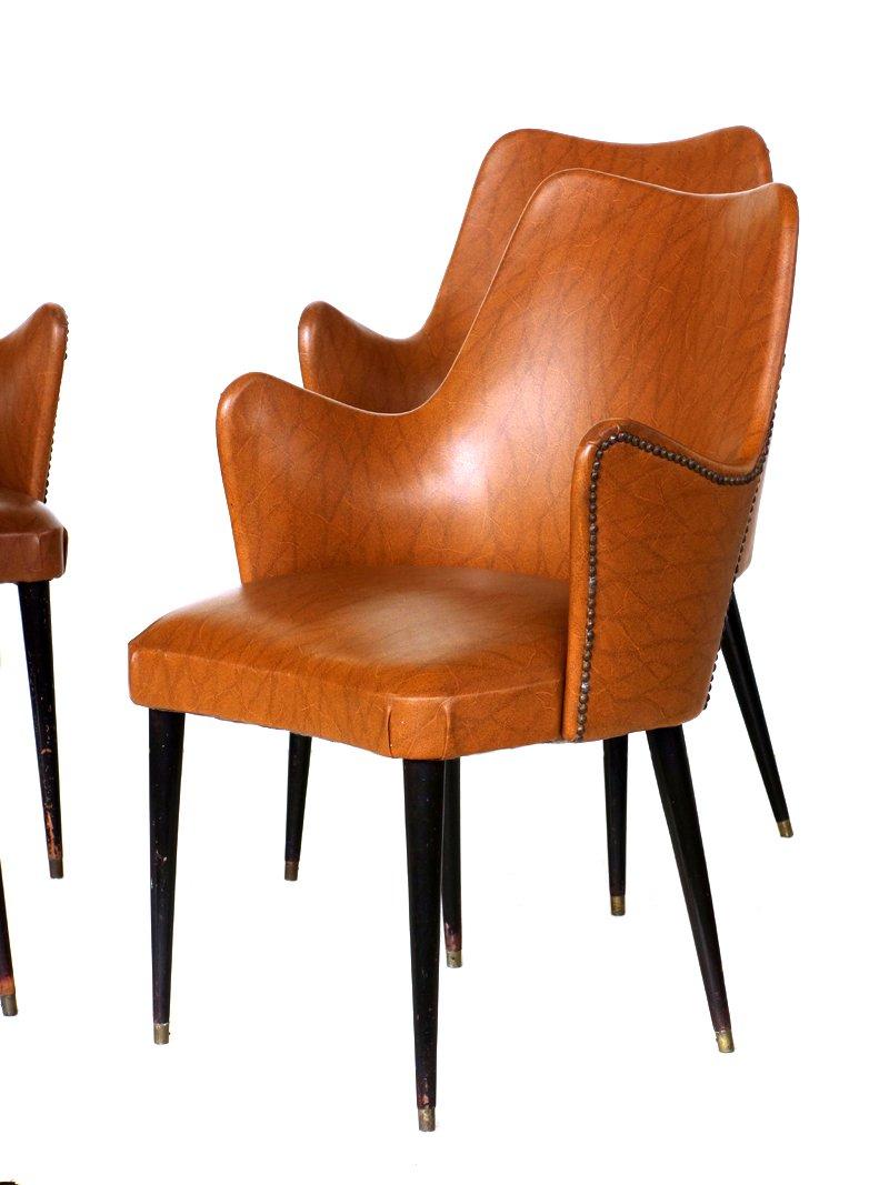 sessel von osvaldo borsani 4er set bei pamono kaufen. Black Bedroom Furniture Sets. Home Design Ideas
