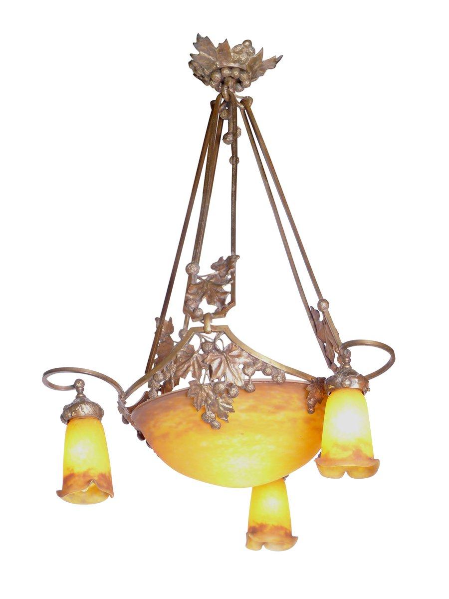 Jugendstil Deckenlampe von Muller Frères, 1910er