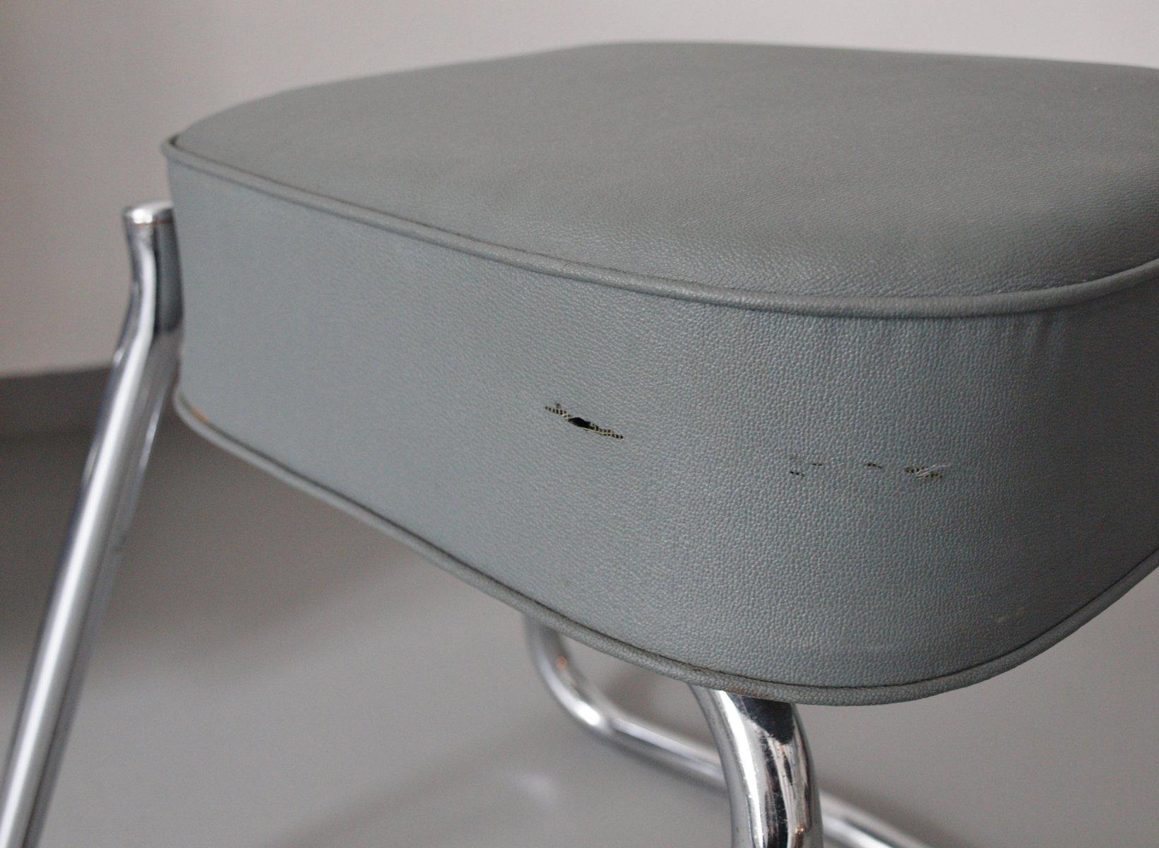 Scrivania con sedia e sgabello di pullman anni in vendita su