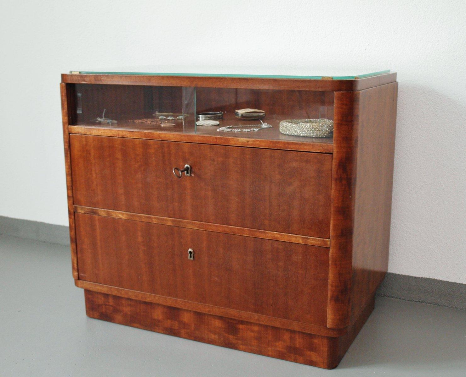 commode art deco en noyer allemagne 1935 en vente sur pamono. Black Bedroom Furniture Sets. Home Design Ideas