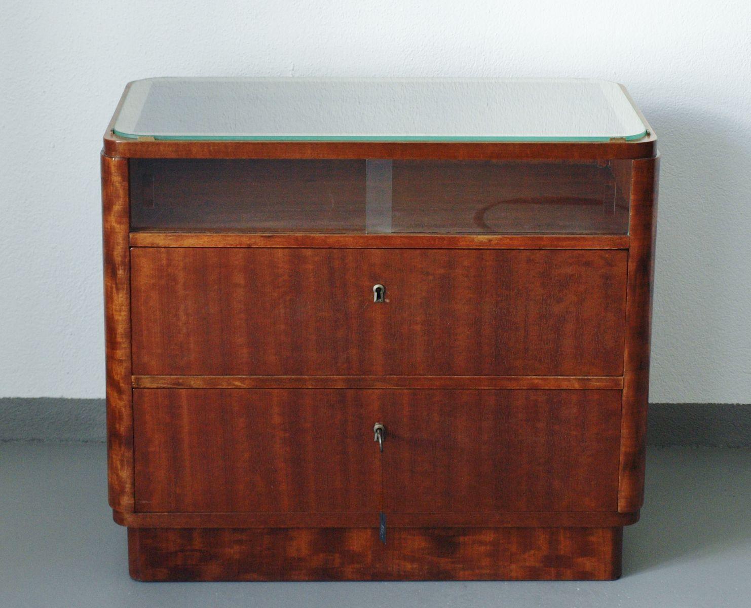 deutsche art deco walnuss kommode 1935 bei pamono kaufen. Black Bedroom Furniture Sets. Home Design Ideas