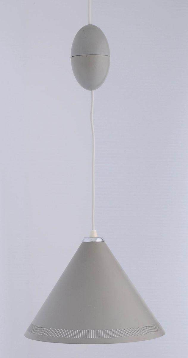 Skandinavische Hängelampe von Bent Karlby für Lyfa, 1960er