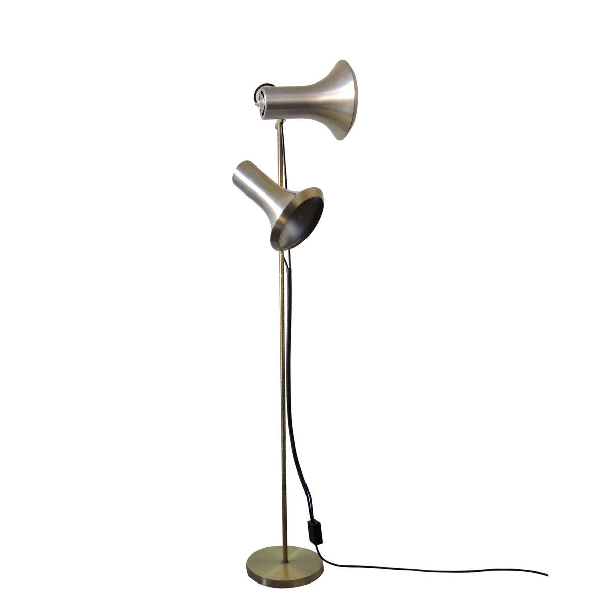 Vintage Stehlampe in Blassgolg, 1960er