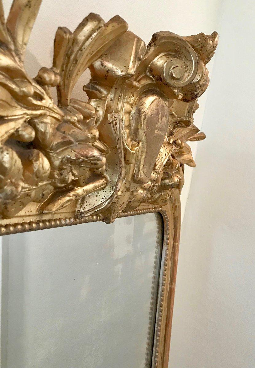 Specchio da camino luigi filippo antico dorato in vendita - Specchio dorato antico ...
