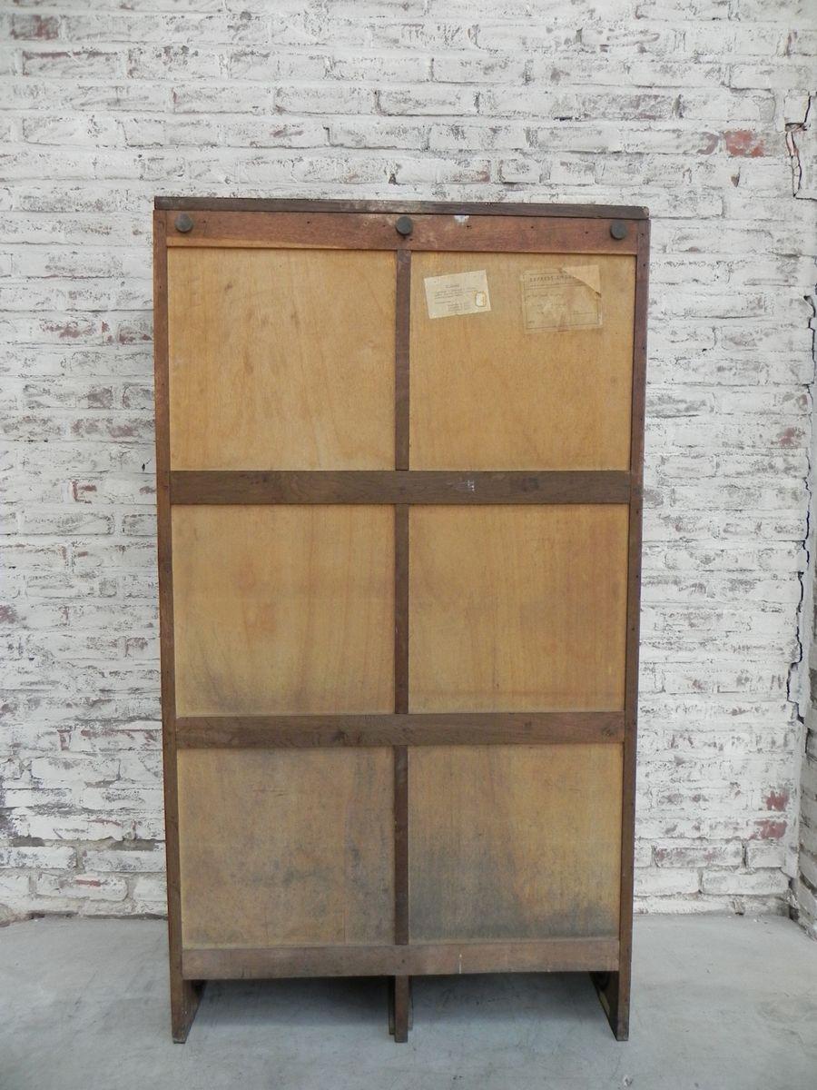 vintage schrank mit 2 rolladen in eiche bei pamono kaufen. Black Bedroom Furniture Sets. Home Design Ideas