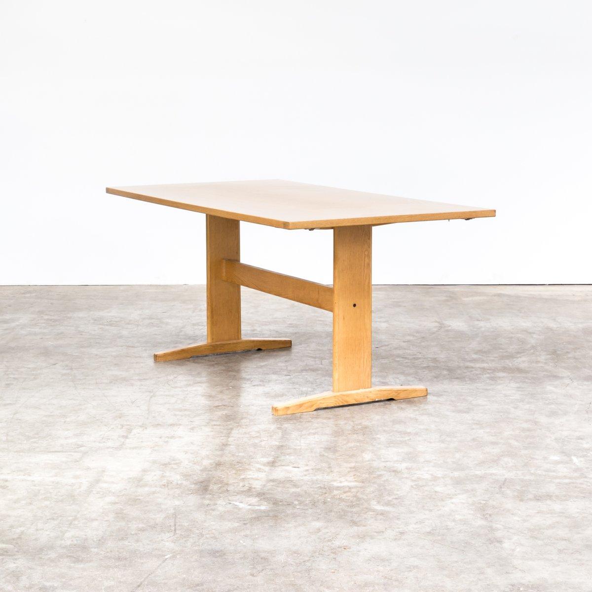 Oak Shaker Style Dining Table, 1970s
