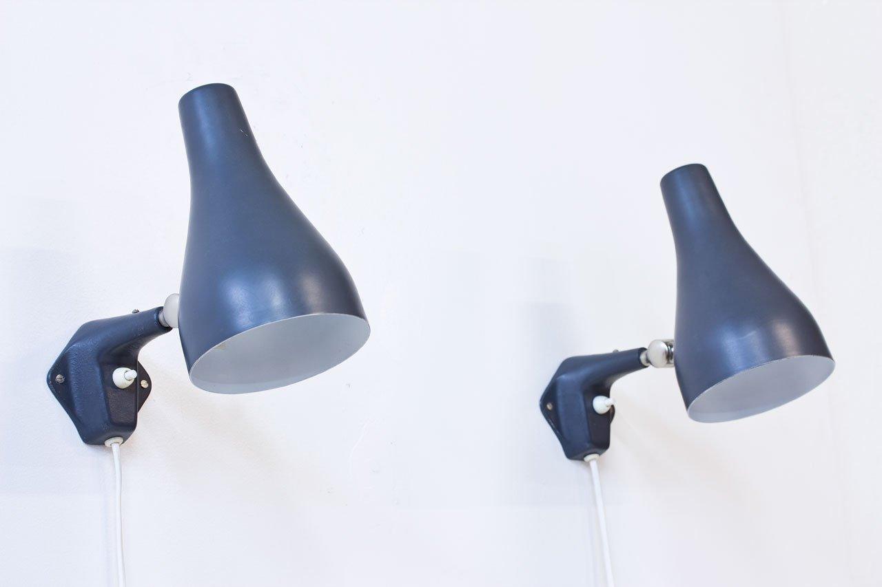 Schwedische Wandlampen von ASEA, 1950er, 2er Set