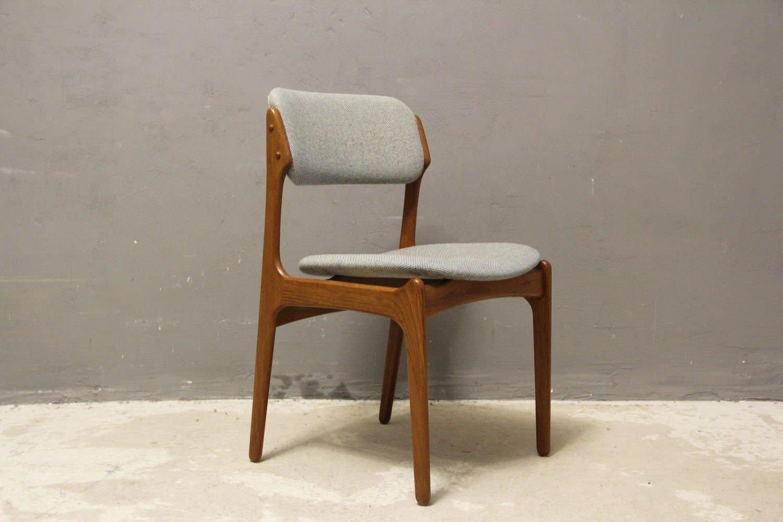chaises en teck 49 par erik buch pour o d mobler as 1960s set de 4 en vente sur pamono. Black Bedroom Furniture Sets. Home Design Ideas
