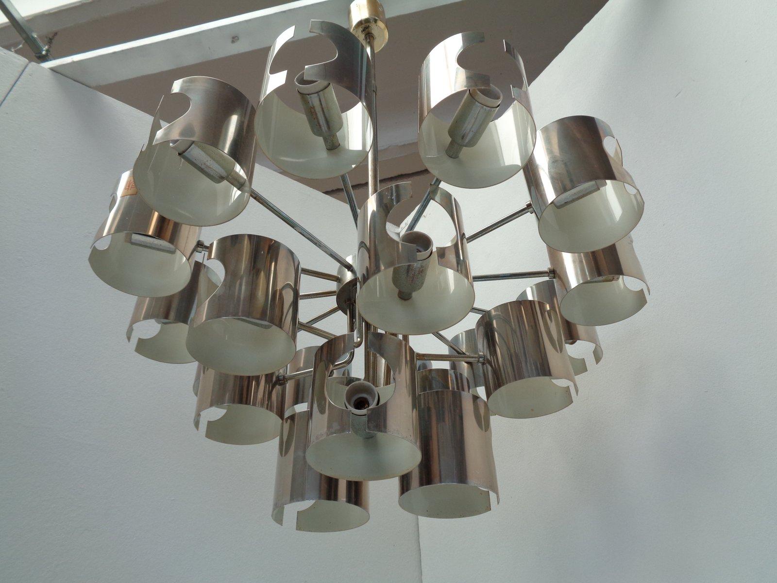 Kronleuchter Vintage Silber ~ Vintage art deco messing kronleuchter im bauhaus stil bei pamono