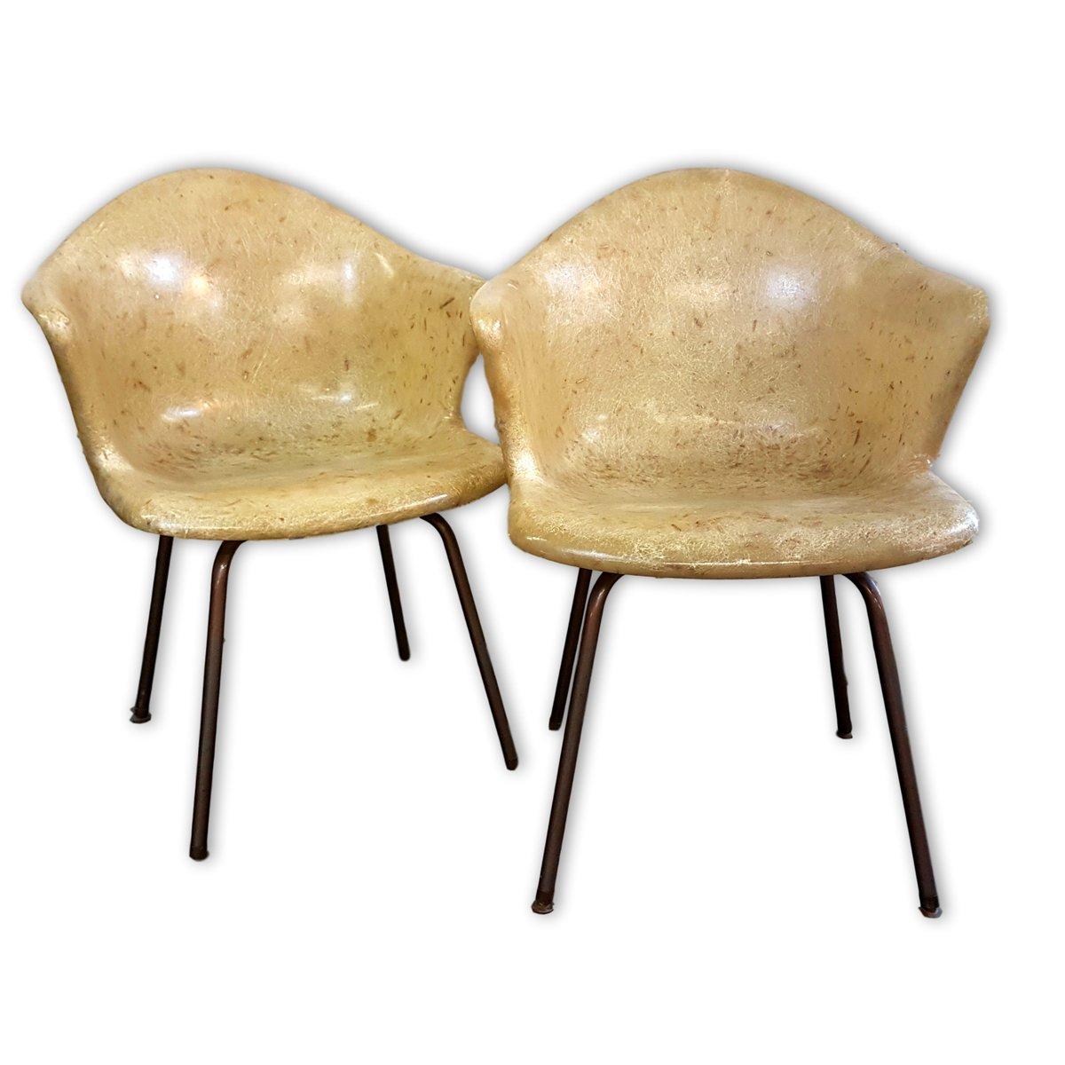 Glasfaser Stühle von Douglas, 1950er, 2er Set