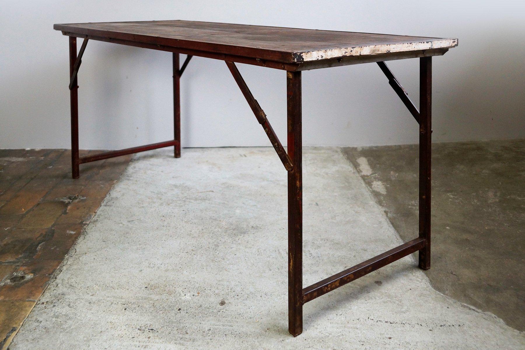 Tavolo da giardino industriale pieghevole india anni 39 50 in vendita su pamono - Tavolo giardino pieghevole ...