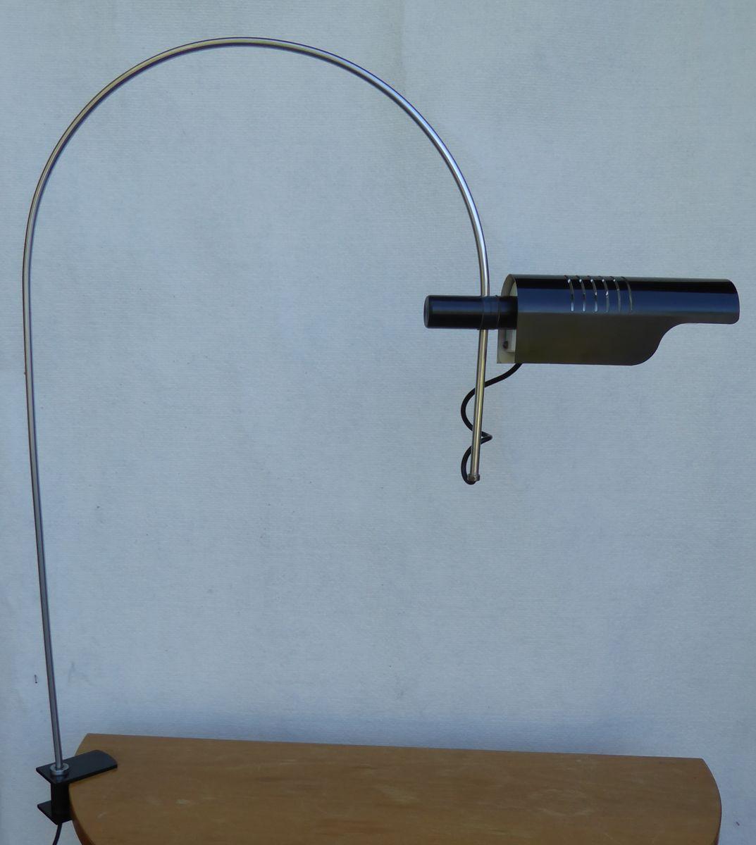 Schwarze italienische Vintage Spider Schreibtischlampe von Joe Colombo...