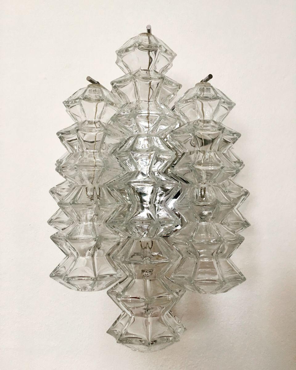 Österreichische Pagoda Wandlampe von J.T. Kalmar für Franken KG, 1960e...