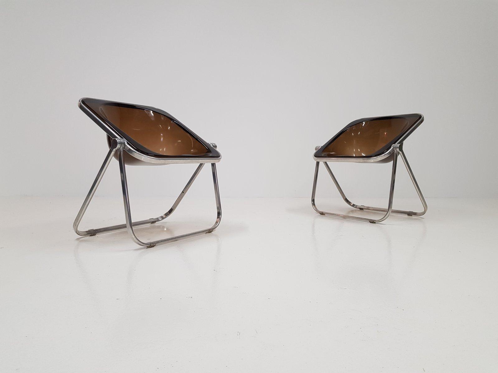 chaises pliables plona vintage par giancarlo piretti pour castelli set de 2 - Chaises Pliables
