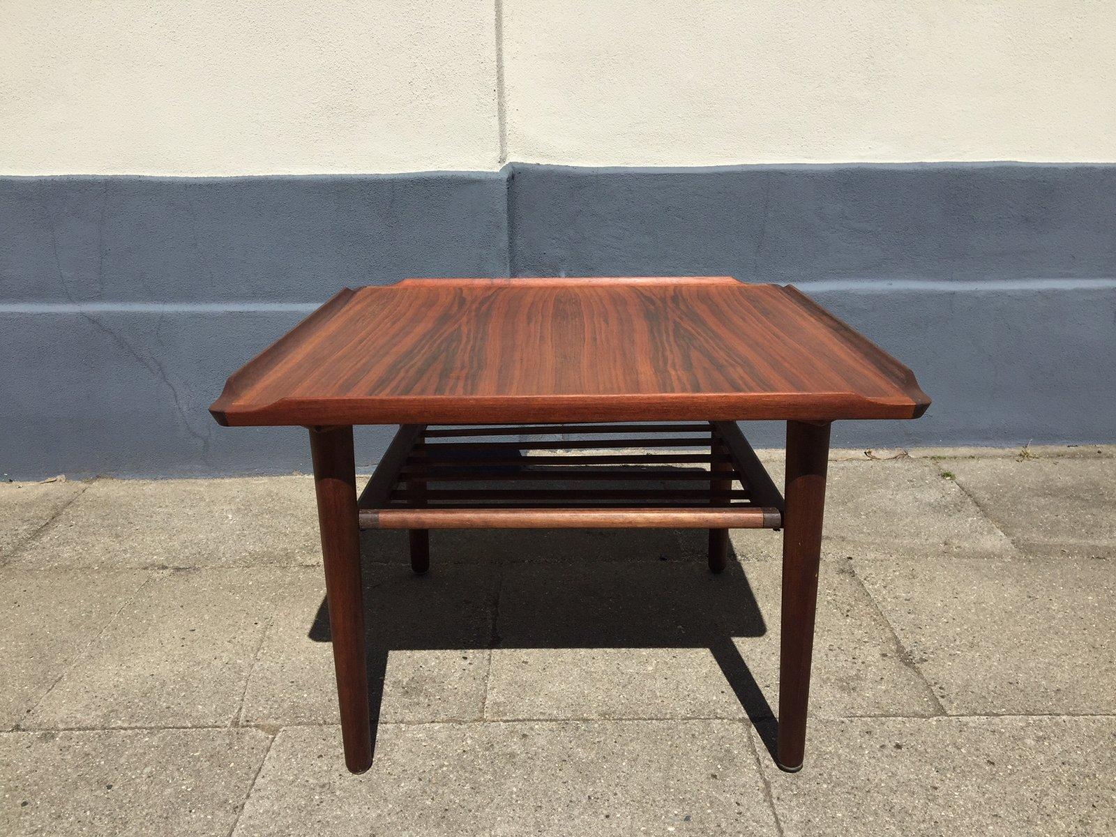 Danish Teak Coffee Table by Holger Georg Jensen for Kubus ...
