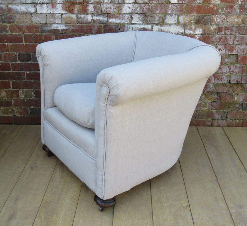 antike sessel mit leinenbezug 2er set bei pamono kaufen. Black Bedroom Furniture Sets. Home Design Ideas