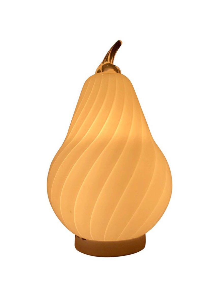 Murano Glas Tischlampe von Vistosi, 1970er