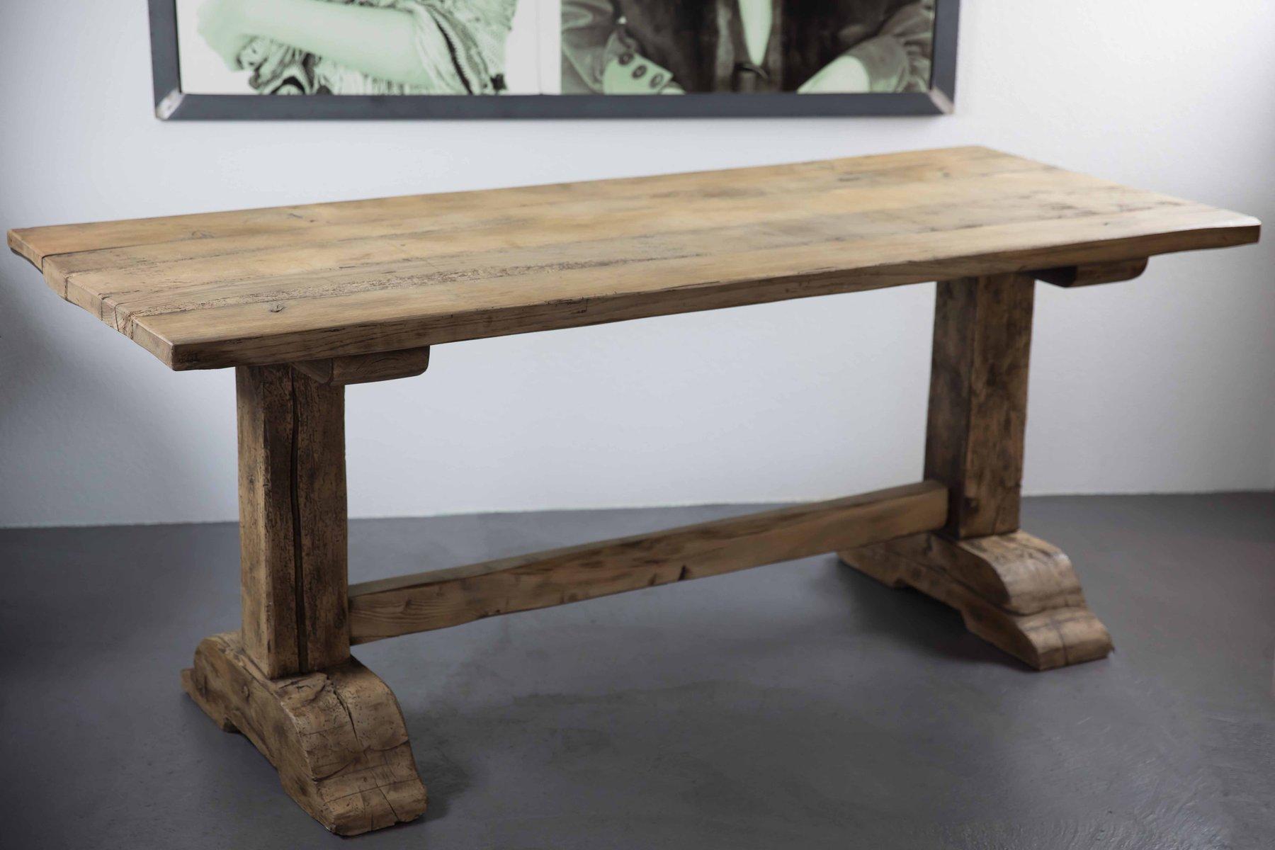 Antique Oak Monastery Table
