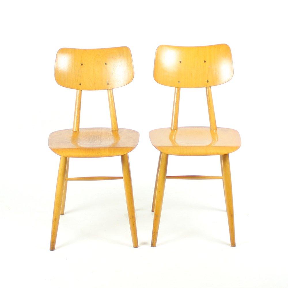 Chaise mid century en bois de ton 1960s